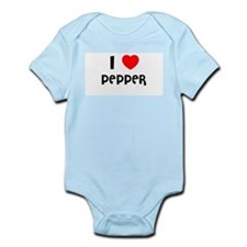 I LOVE PEPPER Infant Creeper