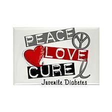 PEACE LOVE CURE Juv Diabetes (L1) Rectangle Magnet