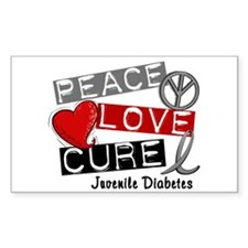 PEACE LOVE CURE Juv Diabetes (L1) Decal
