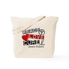 PEACE LOVE CURE Juv Diabetes (L1) Tote Bag
