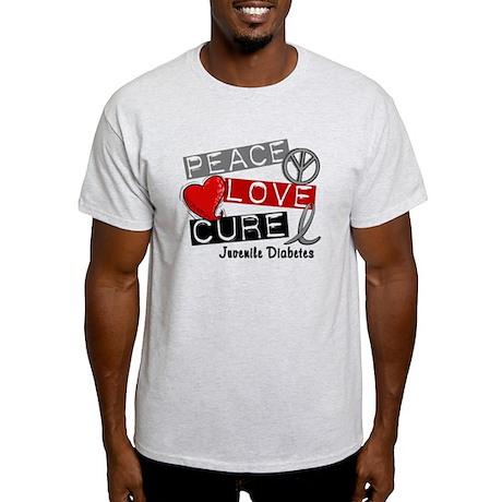 PEACE LOVE CURE Juv Diabetes (L1) Light T-Shirt