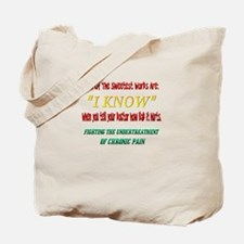 Under Treatment of Chronic Pa Tote Bag