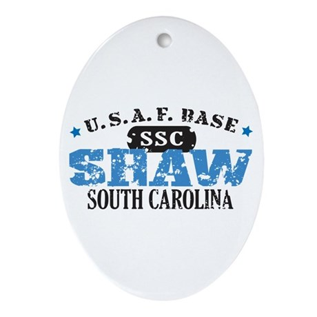 Shaw Air Force Base Oval Ornament