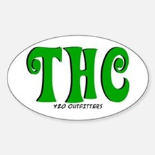 THC Oval Decal
