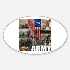 ARMY 1776 Oval Decal