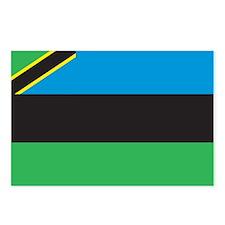 Zanzibar Flag Postcards (Package of 8)