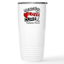 PEACE LOVE CURE Parkinsons (L1) Travel Mug