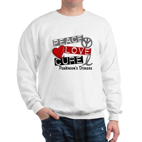 PEACE LOVE CURE Parkinsons (L1) Sweatshirt