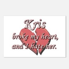 Kris broke my heart and I hate her Postcards (Pack