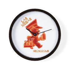 Andy Anderson Las Vegas Neon Sign Wall Clock