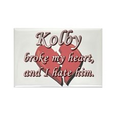 Kolby broke my heart and I hate him Rectangle Magn