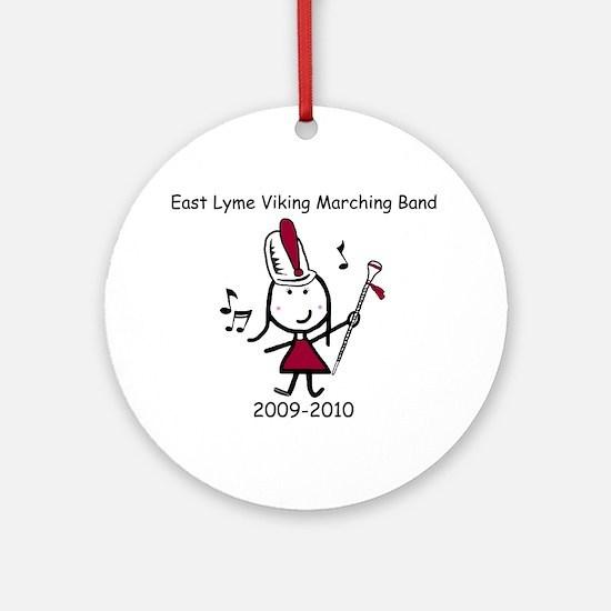 Drum Major - East Lyme Ornament (Round)