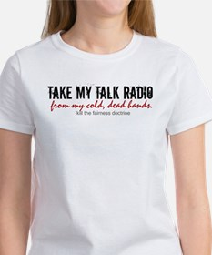 talk-radio-fairness-doctrine-on-white T-Shirt