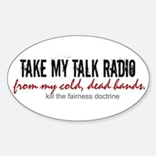 Anti-Fairness Doctrine Oval Decal