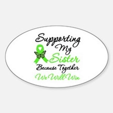 Lymphoma Support (Sister) Oval Decal
