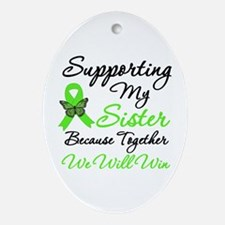 Lymphoma Support (Sister) Oval Ornament