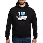 I Love Greek Boys Hoodie (dark)