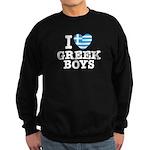 I Love Greek Boys Sweatshirt (dark)