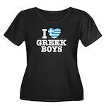 I Love Greek Boys Women's Plus Size Scoop Neck Dar