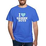 I Love Greek Boys Dark T-Shirt