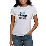 I Love Greek Boys Women's T-Shirt