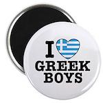 I Love Greek Boys Magnet