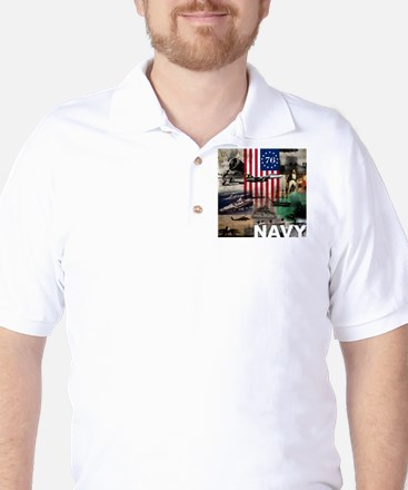 NAVY 1776 Golf Shirt