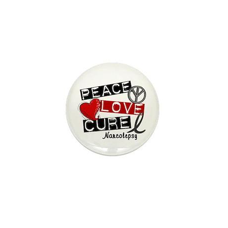 PEACE LOVE CURE Narcolepsy (L1) Mini Button