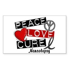 PEACE LOVE CURE Narcolepsy (L1) Decal