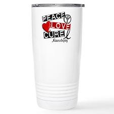 PEACE LOVE CURE Narcolepsy (L1) Travel Mug