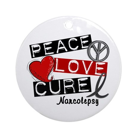 PEACE LOVE CURE Narcolepsy (L1) Ornament (Round)