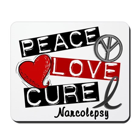 PEACE LOVE CURE Narcolepsy (L1) Mousepad