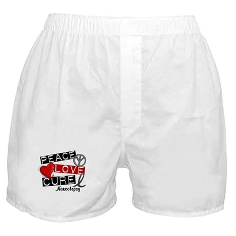 PEACE LOVE CURE Narcolepsy (L1) Boxer Shorts