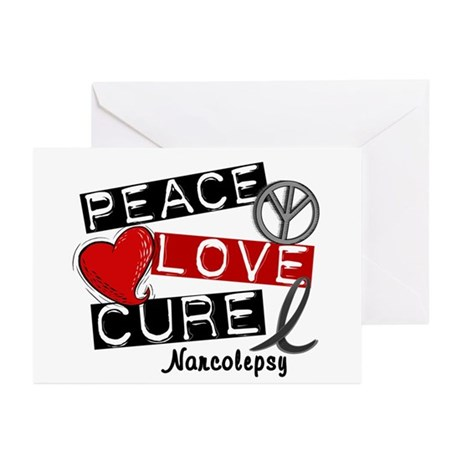 PEACE LOVE CURE Narcolepsy (L1) Greeting Cards (Pk