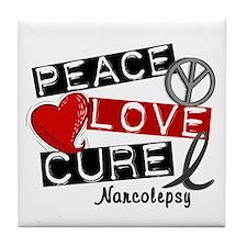 PEACE LOVE CURE Narcolepsy (L1) Tile Coaster