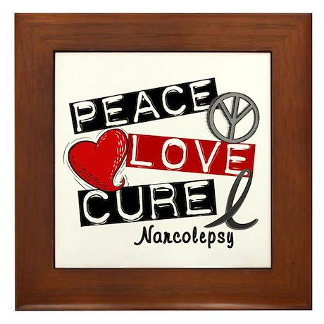 PEACE LOVE CURE Narcolepsy (L1) Framed Tile