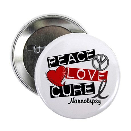 "PEACE LOVE CURE Narcolepsy (L1) 2.25"" Button (100"