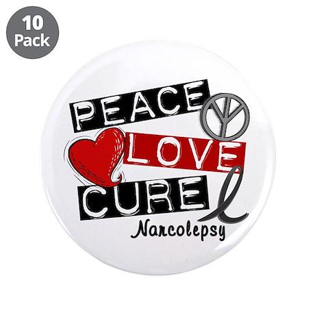 "PEACE LOVE CURE Narcolepsy (L1) 3.5"" Button (10 pa"