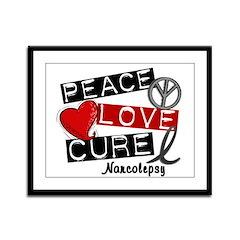 PEACE LOVE CURE Narcolepsy (L1) Framed Panel Print