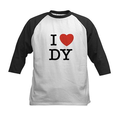I Heart DY Kids Baseball Jersey