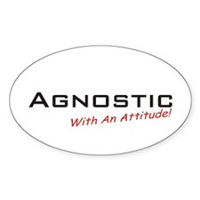 Agnostic / Attitude Oval Decal
