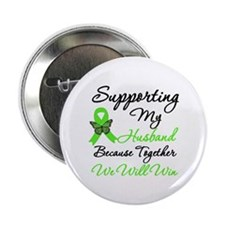 """Lymphoma Support (Husband) 2.25"""" Button (10 pack)"""
