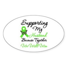 Lymphoma Support (Husband) Oval Decal