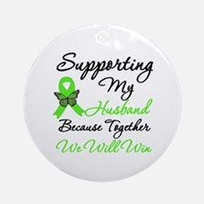 Lymphoma Support (Husband) Ornament (Round)