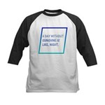 A day without sunshine Kids Baseball Jersey