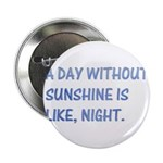 "A day without sunshine 2.25"" Button (10 pack)"