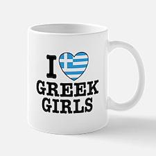 I Love Greek Girls Mug