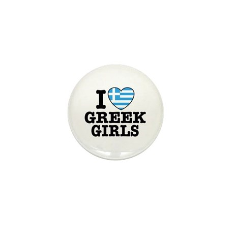 I Love Greek Girls Mini Button