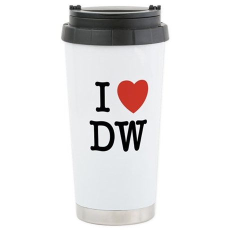 I Heart DW Stainless Steel Travel Mug
