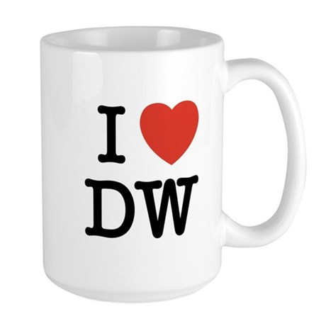 I Heart DW Large Mug